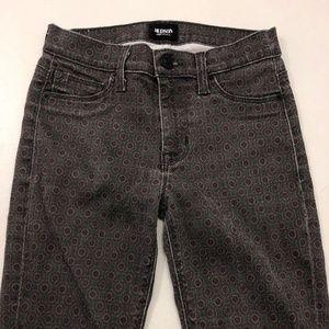 Hudson Jeans Skinny Slim Leg Purple Geometric 25